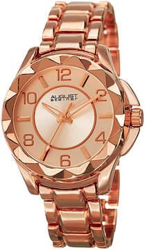 August Steiner Womens Rose Goldtone Strap Watch-As-8159rg