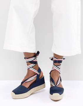Tie Flatform Espadrille