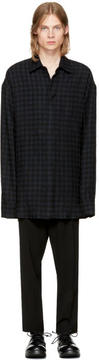 Ann Demeulemeester Black Wool Check Shirt