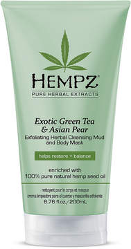 Hempz Exotic Green Tea & Asian Pear Exfoliating Herbal Cleansing Mud and Body Mask