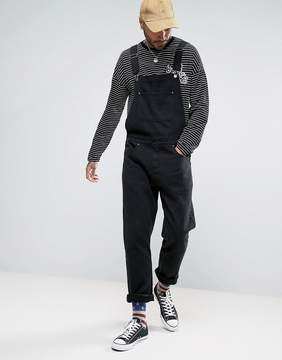 Asos Denim Overalls In Black