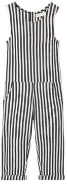 MANGO Stripy textured jumpsuit