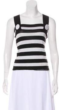 Antonio Marras Striped Metallic Top