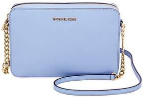 Michael Kors Jet Set Large Saffiano Leather Crossbody - Pale Blue - ONE COLOR - STYLE