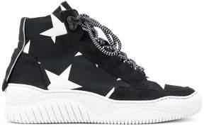 MSGM star print sneakers