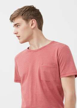 Mango Outlet Striped cotton t-shirt