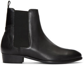 H By Hudson Black Watts Chelsea Boots
