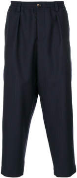 Marni herringbone drop-crotch trousers