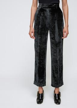 Aalto Velvet Stripe Tailored Grandpa Trouser