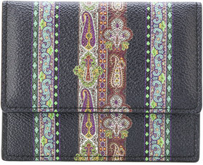 Etro embroidered bi-fold wallet
