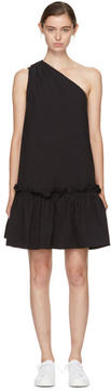 Edit Black Single-Shoulder Dress