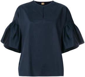 Fay peplum cuff blouse