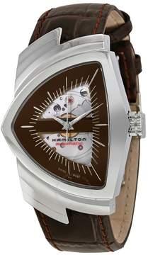 Hamilton Ventura Automatic Brown Skeleton Dial Men's Watch