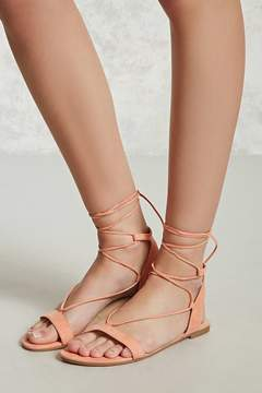 Forever 21 Faux Suede Lace-Up Sandals