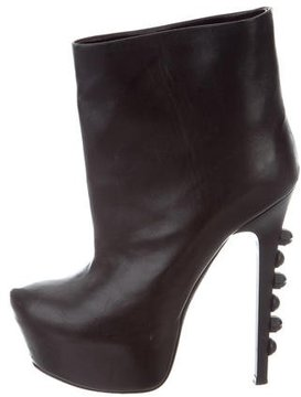 Ruthie Davis Leather Platform Ankle Boots
