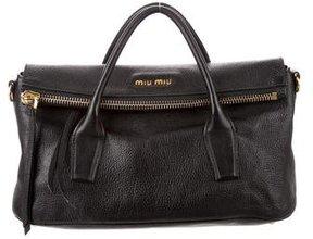 Miu Miu Leather Fold-Over Satchel