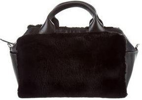 Reed Krakoff Rabbit Fur Small Track Satchel