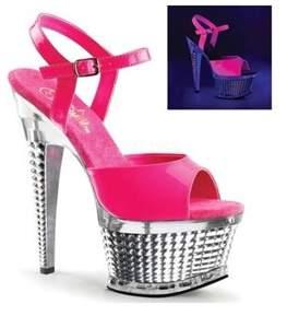 Pleaser USA Women's Illusion 659uv Platform Sandal.