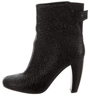 Tibi Embossed Leather Ankle Boots
