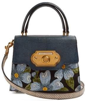 Dolce & Gabbana Welcome Floral Jacquard Bag - Womens - Blue Multi
