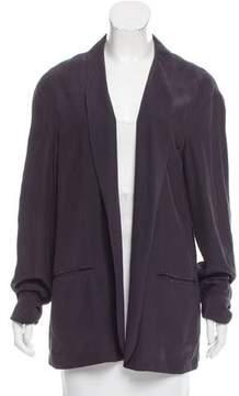 Baja East Silk Shawl Collar Blazer