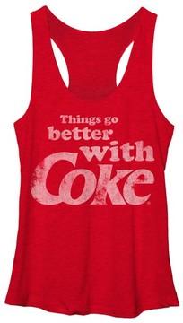 Fifth Sun Heather Red Coca-Cola 'Better with Coke' Racerback Tank - Juniors
