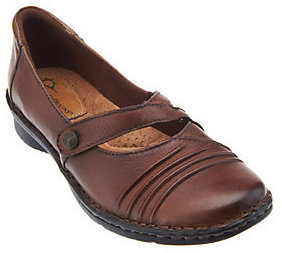 Earth As Is Origins Misty Leather Mary Janes