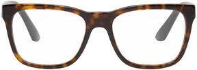 Versace Tortoiseshell Rectangular Glasses