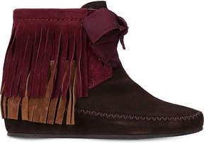 Etro Fringe suede ankle boots