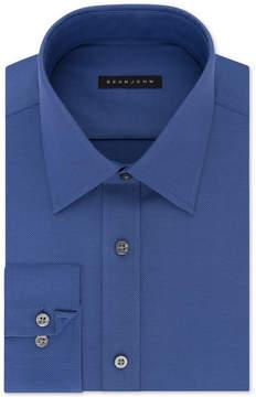 Sean John Men's Classic/Regular Fit Solid Blue Dress Shirt
