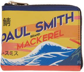 Paul Smith Multicolor Mackerel Can Zip Wallet