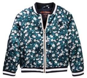 Joe Fresh Floral Bomber Jacket (Toddler & Little Girls)