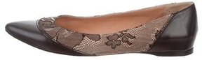 Nina Ricci Leather Lace-Trimmed Flats