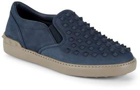 Valentino Men's Studded Leather Slip-On Sneakers