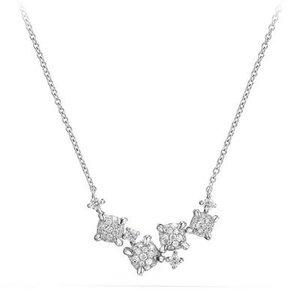 David Yurman Petite Châtelaine Necklace in 18k White Gold
