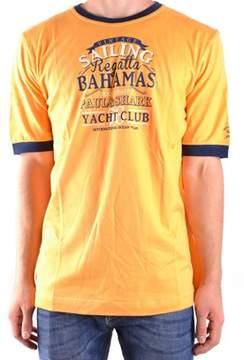 Paul & Shark Men's Yellow Cotton T-shirt.
