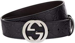 Gucci GG Supreme Embossed Leather Belt