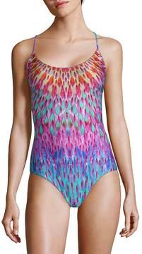Luli Fama Women's One-Piece Multicolored Drop Swimsuit