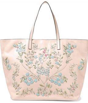 RED Valentino Beaded Embroidered Leather Tote