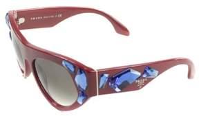 Prada PR 21QS SMN0A7 Womens Red Plastic Sunglasses
