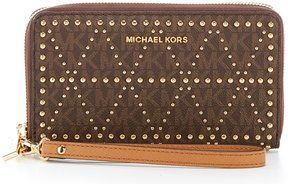 MICHAEL Michael Kors Signature Large Multifunction Wallet - BROWN - STYLE