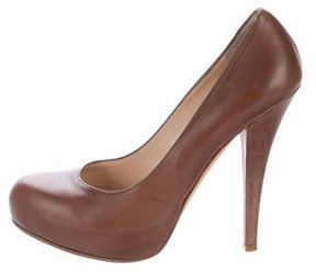 Alejandro Ingelmo Leather Platform Pumps
