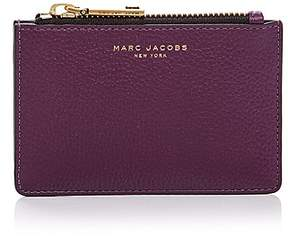 Marc Jacobs Gotham Top Zip Leather Wallet - BLACK/SILVER - STYLE