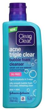 Clean & Clear®Acne Triple Clear Bubble Foam Cleanser - 5.7 fl oz