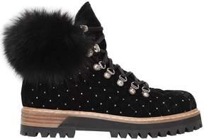 Le Silla 30mm Velvet & Fox Fur Trekking Boots