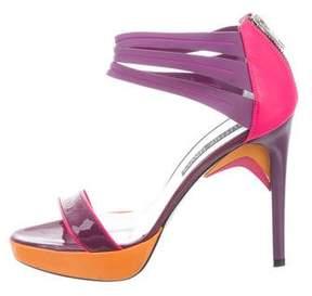 Ruthie Davis Patent Leather Platform Sandals