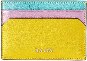 Bally Green & Yellow Leather Tigi Card Case