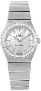 Omega Constellation 123.15.27.60.05.001 Stainless Steel wDiamond Quartz 27mm Womens Watch