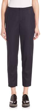 SET Women's Cropped Wool Blend Trousers