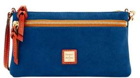 Dooney & Bourke Suede Tech Top Zip Pouch - ROYAL BLUE - STYLE